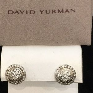 David Yurman SS Petite Cerise Diamond Earrings